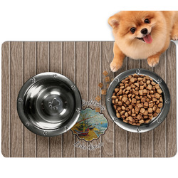 Lake House Dog Food Mat - Small w/ Name or Text