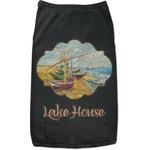 Lake House Black Pet Shirt (Personalized)