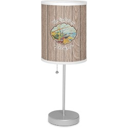 """Lake House 7"""" Drum Lamp with Shade Linen (Personalized)"""