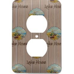 Lake House Electric Outlet Plate (Personalized)
