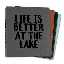"""Lake House Leather Binder - 1"""" (Personalized)"""