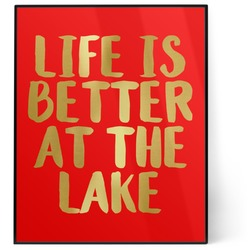 Lake House 8x10 Foil Wall Art - Red (Personalized)