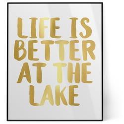 Lake House 8x10 Foil Wall Art - White (Personalized)