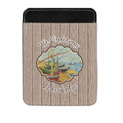 Lake House Genuine Leather Money Clip (Personalized)