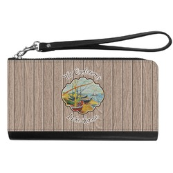 Lake House Genuine Leather Smartphone Wrist Wallet (Personalized)