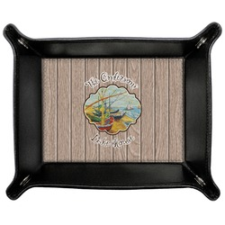 Lake House Genuine Leather Valet Tray (Personalized)
