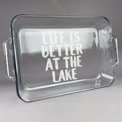 Lake House Glass Baking and Cake Dish (Personalized)