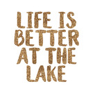 Lake House Glitter Iron On Transfer- Custom Sized (Personalized)