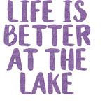 Lake House Glitter Sticker Decal - Custom Sized (Personalized)