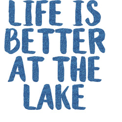 Lake House Glitter Sticker Decal - Custom Sized (Personalized)