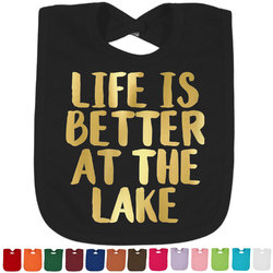 Lake House Foil Baby Bibs (Select Foil Color) (Personalized)