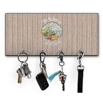 Lake House Key Hanger w/ 4 Hooks (Personalized)