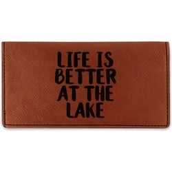 Lake House Leatherette Checkbook Holder (Personalized)