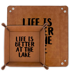 Lake House Faux Leather Valet Tray (Personalized)