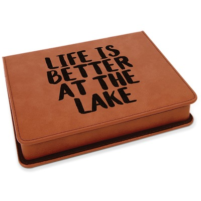 Lake House Leatherette 4-Piece Wine Tool Set (Personalized)
