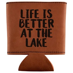 Lake House Leatherette Can Sleeve (Personalized)