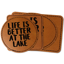 Lake House Faux Leather Iron On Patch (Personalized)