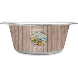Lake House Stainless Steel Dog Bowl (Personalized)