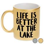Lake House Metallic Mug (Personalized)