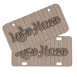 Lake House Mini/Bicycle License Plates (Personalized)