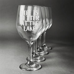 Lake House Wine Glasses (Set of 4) (Personalized)