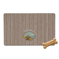 Lake House Pet Bowl Mat (Personalized)