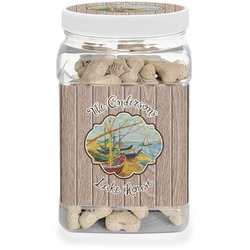 Lake House Dog Treat Jar (Personalized)