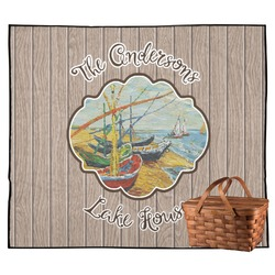 Lake House Outdoor Picnic Blanket (Personalized)