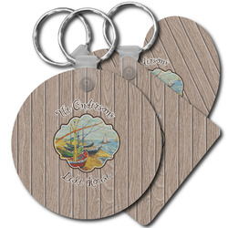 Lake House Plastic Keychains (Personalized)