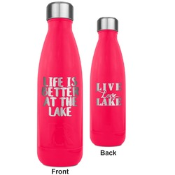Lake House RTIC Bottle - 17 oz. Pink - Engraved Front & Back (Personalized)