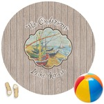 Lake House Round Beach Towel (Personalized)