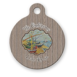 Lake House Round Pet Tag (Personalized)