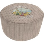 Lake House Round Pouf Ottoman (Personalized)