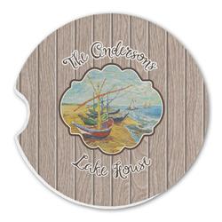 Lake House Sandstone Car Coasters (Personalized)