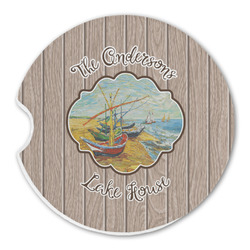 Lake House Sandstone Car Coasters (Personalized)