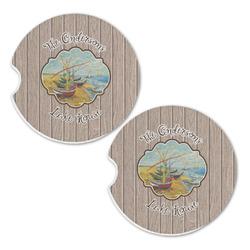 Lake House Sandstone Car Coasters - Set of 2 (Personalized)