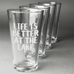 Lake House Beer Glasses (Set of 4) (Personalized)