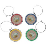 Lake House Wine Charms (Set of 4) (Personalized)