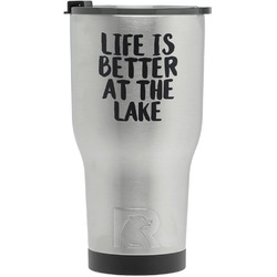 Lake House RTIC Tumbler - Silver - Engraved Front (Personalized)