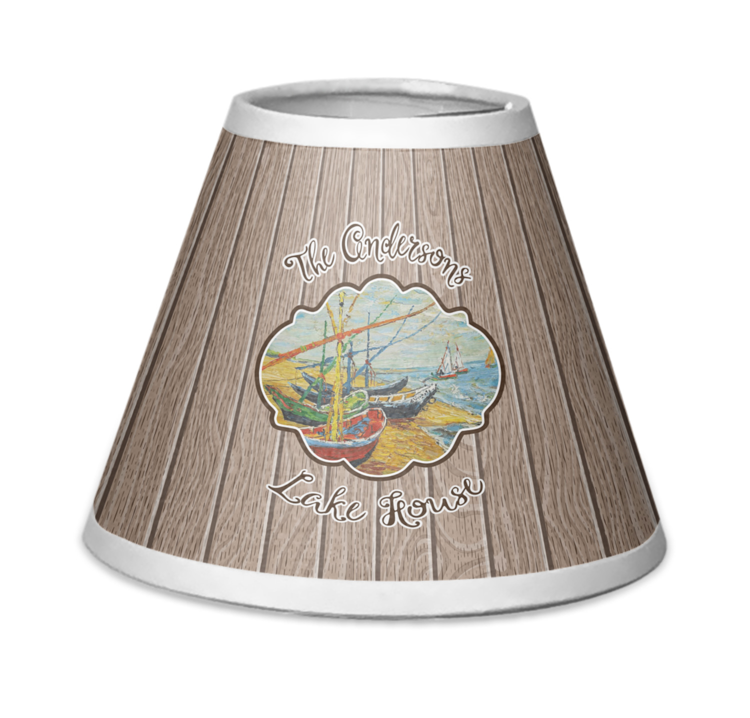 Lake House Chandelier Lamp Shade Personalized