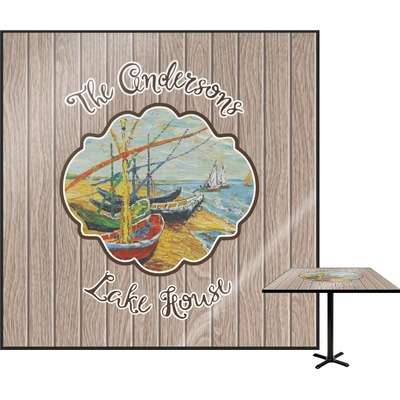 Lake House Square Table Top (Personalized)