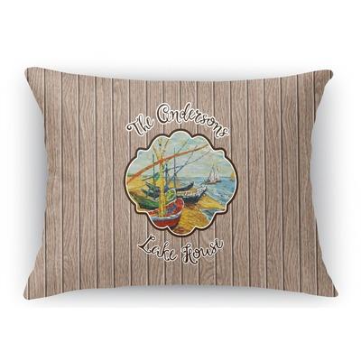 Lake House Rectangular Throw Pillow Case (Personalized)