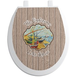 Lake House Toilet Seat Decal (Personalized)