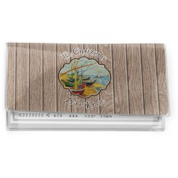 Lake House Vinyl Checkbook Cover (Personalized)