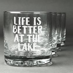 Lake House Whiskey Glasses (Set of 4) (Personalized)