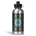 Floral Water Bottle - Aluminum - 20 oz (Personalized)