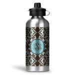 Floral Water Bottle - Aluminum - 20 oz (Personalized)
