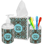 Floral Bathroom Accessories Set (Personalized)