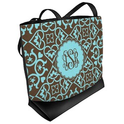 Floral Beach Tote Bag (Personalized)