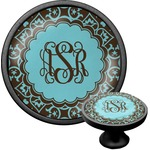 Floral Cabinet Knob (Black) (Personalized)